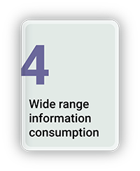 Wide Range Information Consumption