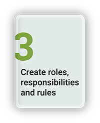 Create Roles, Responsibilities and Rules