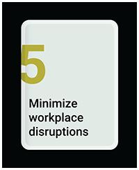 Minimize Workplace Distruptions