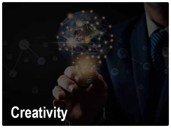 Creativity - Analyze the past, leverage the present and forecast the future through data visualization